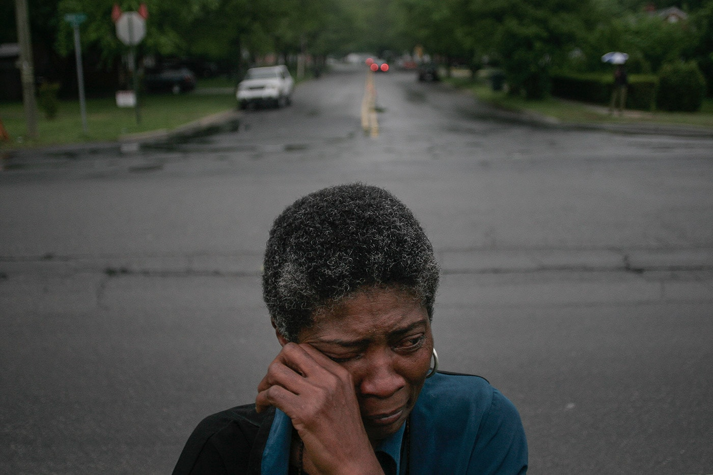 """Since Ray been murdered, I have nightmares. I dream of him in the morgue and when they are cutting his body I wake up because I can feel the knife cutting me,"" says Joslin Simms, who weeps at the corner of Broad and Leon streets where her son, Rayburn, 30, was shot to death on May 21, 2005."