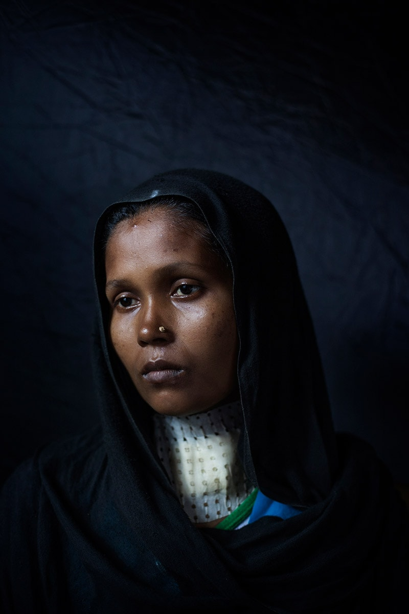 Rashida, 25. Rohingya Tu Lar To Li massacre survivor.