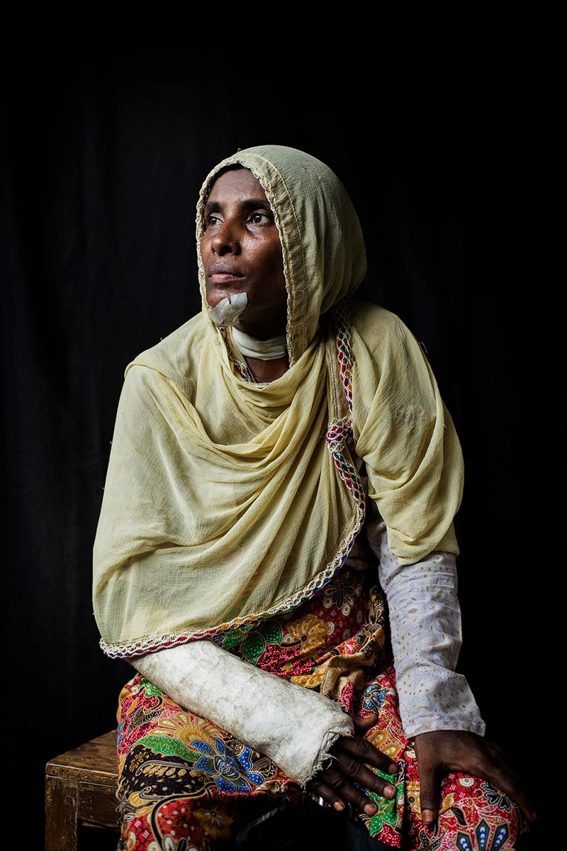 Khatiza Begum, 42. Rohingya Tu Lar To Li massacre survivor.