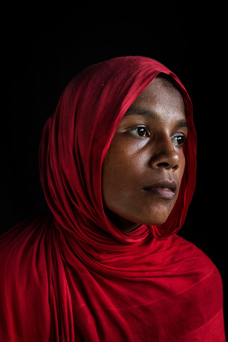 Rajuma Begum, 20. Rohingya Tu Lar To Li massacre survivor.