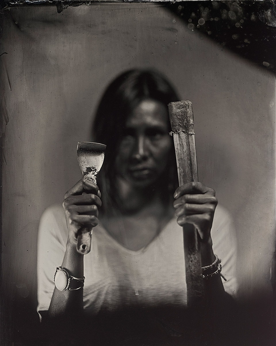 Tin type portrait of Melaw Nakeko II