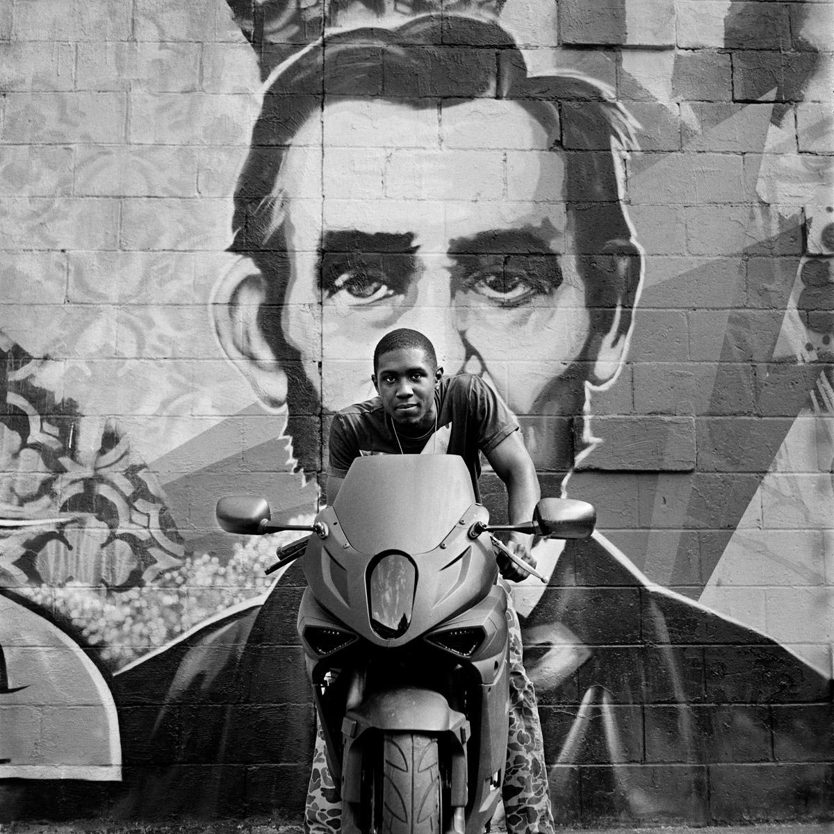 Prospect Graham of The Katz motorcycle club, Brooklyn, 2014.